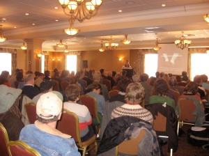 Roxbury Farm started the program with the CSA Workshop - it was a full house!