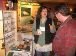 Andrea Berry of Hope Seeds at the ACORN Trade Show