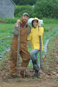 Shannon Jones & Bryan Dyck are co-owners of Broadfork Farm in River Hebert, NS.