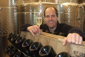 Bruce Ewert is owner-operator of L'Acadie Vineyards, the first organic winery in Nova Scotia.
